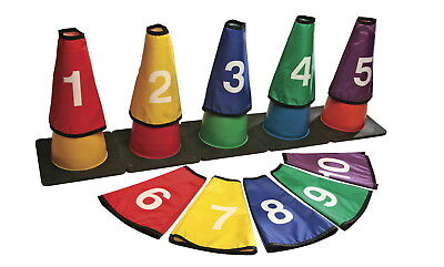 Yellowtails Numbered Cone Covers, Set of 10
