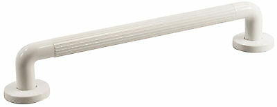 White Plastic 450mm x 32mm Fluted Grab rails