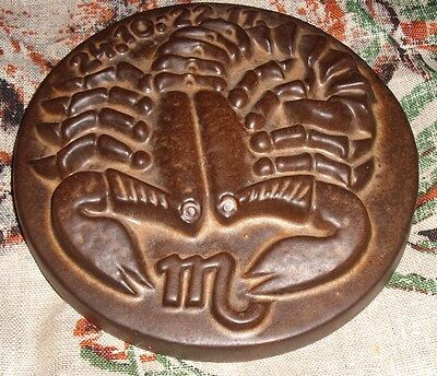 Scorpio Zodiac Scorpion Plaque Trivet Ceramic Great Birthday Gift