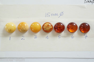 Baltic amber round cabochon 15mm best quality white,butterscotch, cognac