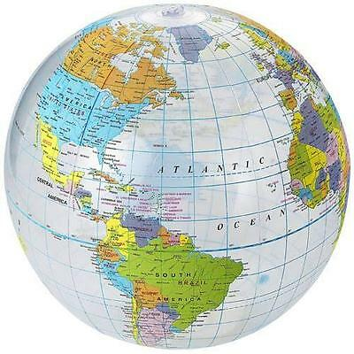 New Inflatable Globe Education geography toy Map balloon beach ball 40cm