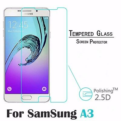 2 x Genuine Tempered Glass 9H Screen Protector For Samsung Galaxy A3 (2016)