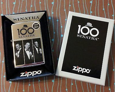 Zippo Frank Sinatra 100th Birthday Limited Edition of 3500 Worldwide NEW Lighter