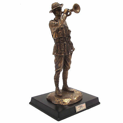 Silent Soldiers The Last Post Bronze Statue Figurine Ornament ANZAC Limited Ed