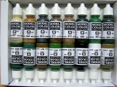 VALLEJO 16 BOTTLE MODEL COLOR SET ACRYLIC PAINTS - WWII Allies (x16)- VAL70109