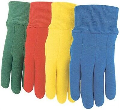 1 Pair- Kids Cott Jersey Glove,No 537K,  Midwest Quality Gloves ASSORTED COLORS