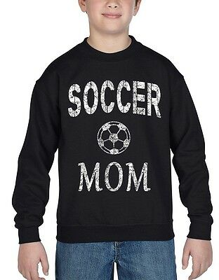 Soccer Mom Mother Youth Crewneck Team Supporter Goal Football Sweatshirts