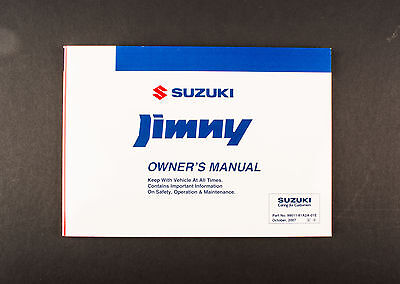 Genuine Suzuki Jimny SN HTOP Owners Manual 99011-81A2A-01E