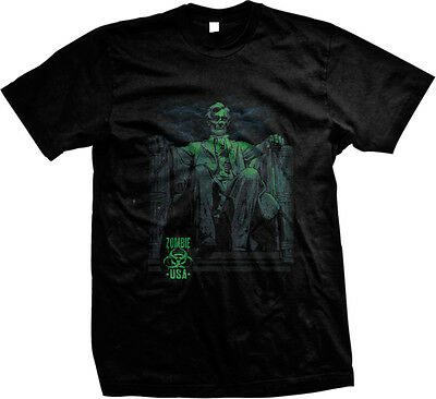 Zombie USA Abe Grim Scary Evil Eery Lincoln Abraham Lincoln  Long Sleeve Thermal