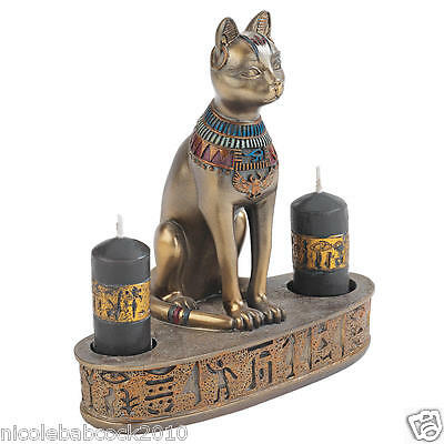 Ancient Egyptian  Goddess Of Felines And Fire Collectible Statue