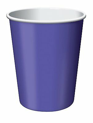 CEG Paper 9oz. Cups, Purple (56115B)