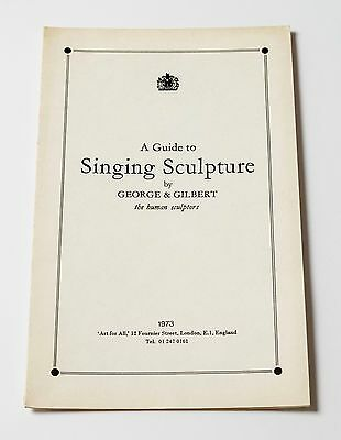 Gilbert & George: A Guide to Singing Sculpture, 1973. Card + Stamped lithograph.