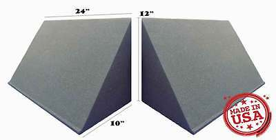 8 PACK, TriAmp Corner Acoustic Bass Trap for Studio Soundproofing 10 x 12 x 24
