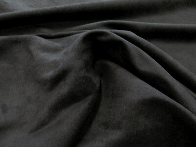 "MICROSUEDE Faux Black Suede Fabric Upholstery 58"" Wide - By the Yard"