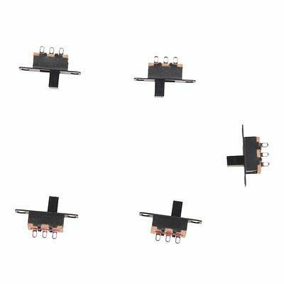 5 Pcs 50V 0.5A 3 Pin 2 Position On/OFF 1P2T SPDT Slide Switch 3 Pin TS
