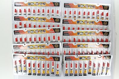 Lot of 100x Individual Tube Cyanoacrylate Adhesive General Purpose Super Glue