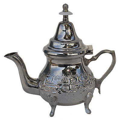 Moroccan Tea Kettle Pot With Infuser Strainer Serving Handmade Fez Small Teapot