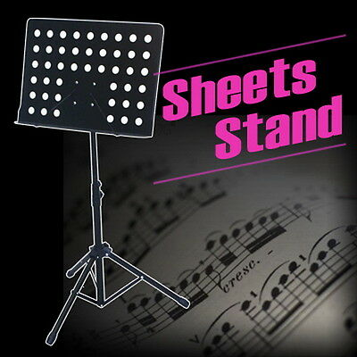 73-106CM Professional Music Sheet Stand Black Stage Tripod With Large Bookplate