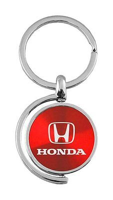 Honda Red Brushed Metal Spinner Key Chain KC1025 Hon Fob