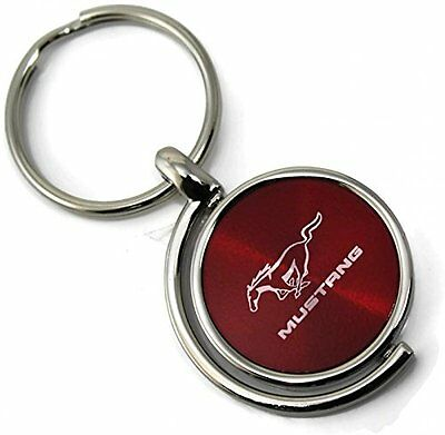 Ford Mustang Logo Spinner Circle Key Chain Red KC1025.MUS.RED Au Tomative Gold