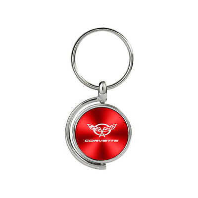 Corvettei Red Teardrop Key Chain by Au-TOMOTIVE GOLD KC1025 Cov5 Red