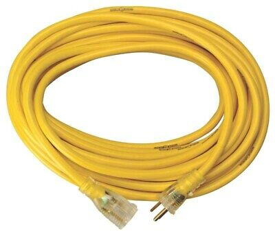 10-Feet 12940002 Coleman Cable 01294 16//3 Contractor Extension Cord with Lighted End