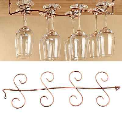 8 Wine Glass Rack Stemware Under Cabinet Holder Hanger Kitchen Display