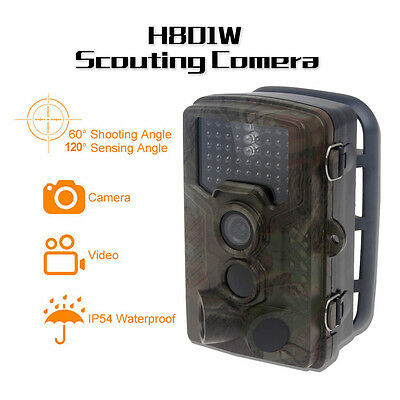 H801W Stealth Phototrap Trail Camera DVR for Wild Animals IR View Day & Night