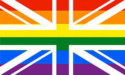 Rainbow Union Jack 5' x 3' Flag Gay Pride