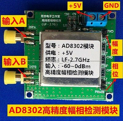 AD8302 Amplitude Phase RF Detector Module 2.7GHz Phase Detection power Amplifier