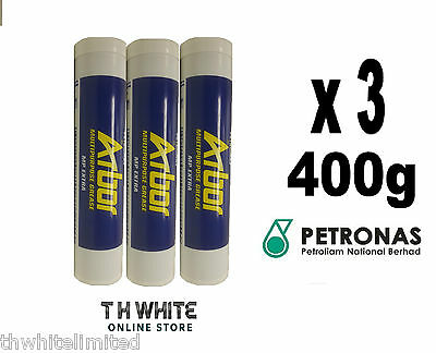 3x LITHIUM GREASE EP2 MULTI PURPOSE - HIGH TEMPERATURE 400g CARTRIDGE (MM)