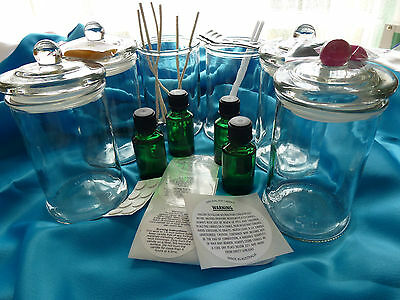 Candle Making Soy Kit 4 Fiesta Clear Jars & all you need READ description please
