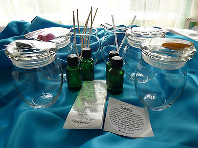 Candle making 6 x Clear Mexicana Jars Kit. Plus all you need READ description