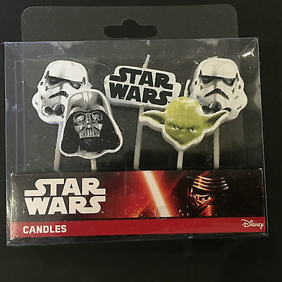 5pc Star Wars Character Party Cake Decor Party Candles Party Supply Boys Party