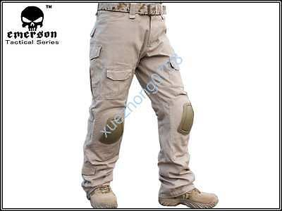 Tactical Military Tan Bdu Pants Army Combat Trousers Gen2 With Knee Pads