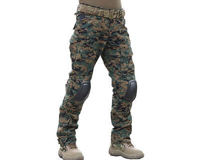 Men Tactical Military Mr Bdu Pants Army Combat Trousers Gen2 With Knee Pads