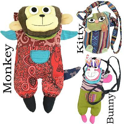 Innocent Lifestyle Monkey Kitty Bunny Patch Bag Ladies Multi Summer Women