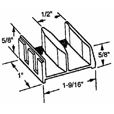 Shower Door Bottom Guide,No 191680,  Slide-Co