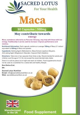 Maca Root Extract 500mg 100 Tablets, Superfood, Sexual Health, Libido (Lindens)