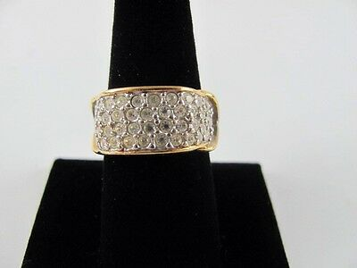 Avon Elizabeth Taylor Brilliance Size 8 Signed Gold Plated Cocktail Ring