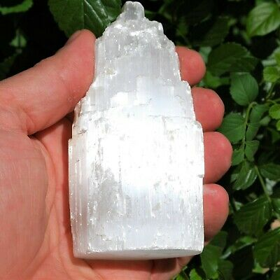 "4"" Selenite Crystal Tower of Divine Mind™ Healing POWER REIKI by ZENERGY GEMS™"