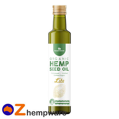 Hemp Seed Oil Certified Organic Cold Pressed Unrefined Omega 3&6 Light Taste