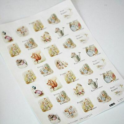 Peter Rabbit Themed Sticker Sheet - 35 square stickers - Beatrix Potter
