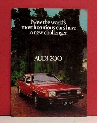 Audi 200 Sales Brochure - South African Market - Circa 1979 - 1