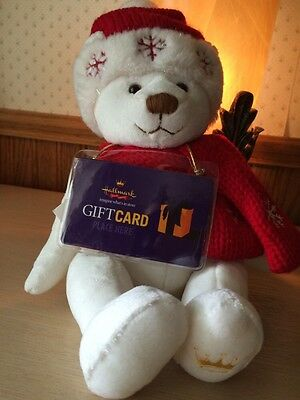 Nwt Hallmark Christmas Teddy Bear With Gift Card Holder