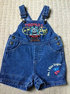 THOMAS & FRIENDS Childs OVERALL 12mo Boys  Embriodered OVERALLS