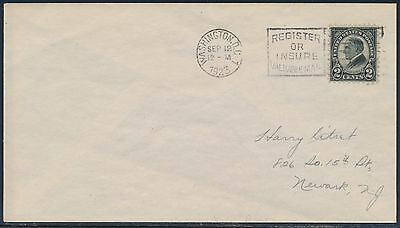 """#612 """"2¢ Harding"""" On First Day Cover Sept 12,1923 Bs9153"""