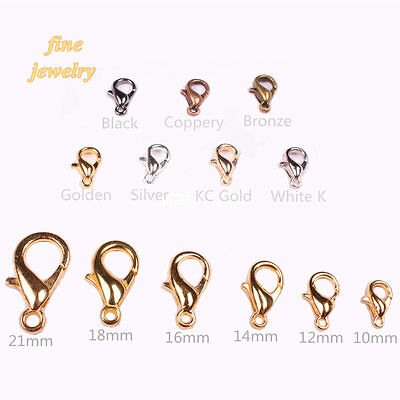 TOP SELL ! Lobster Clasps Hooks DIY Jewelry Finding All Size All Color wholesale