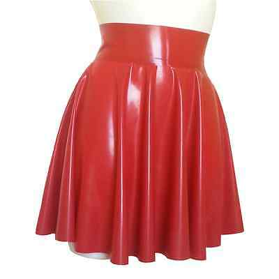 Latex Rubber Full Circle Skating Skirt TV UNISEX SEXY RED SIZE: S M L XL XXL