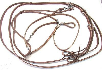 D.A. Brand Brown Leather horse size German Martingale horse tack JI-R-2665